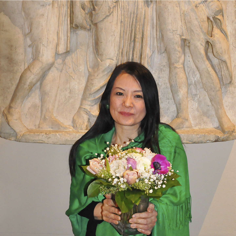 "Naomi Maki at Pushkin Museum, 2012  24"" x 24"""