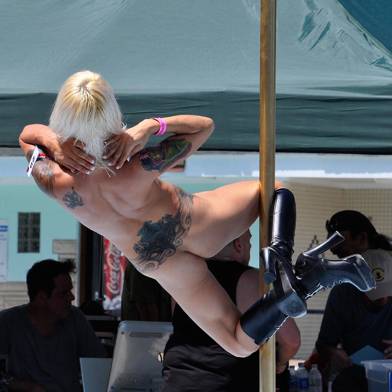 "Ponderosa Sun Club, Pole Dancer No. 2, 2013  20"" x 20"""