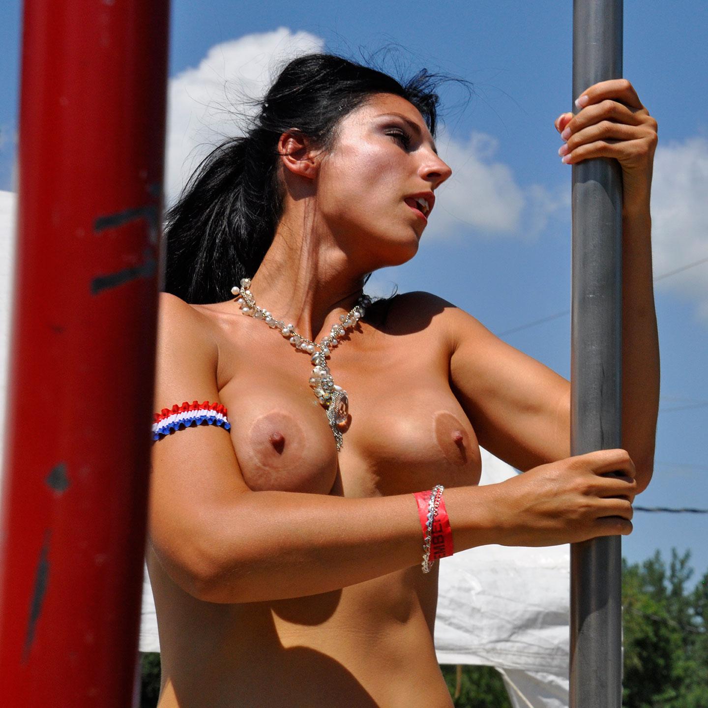 "Ponderosa Sun Club, Pole Dancer No. 3, 2013  20"" x 20"""