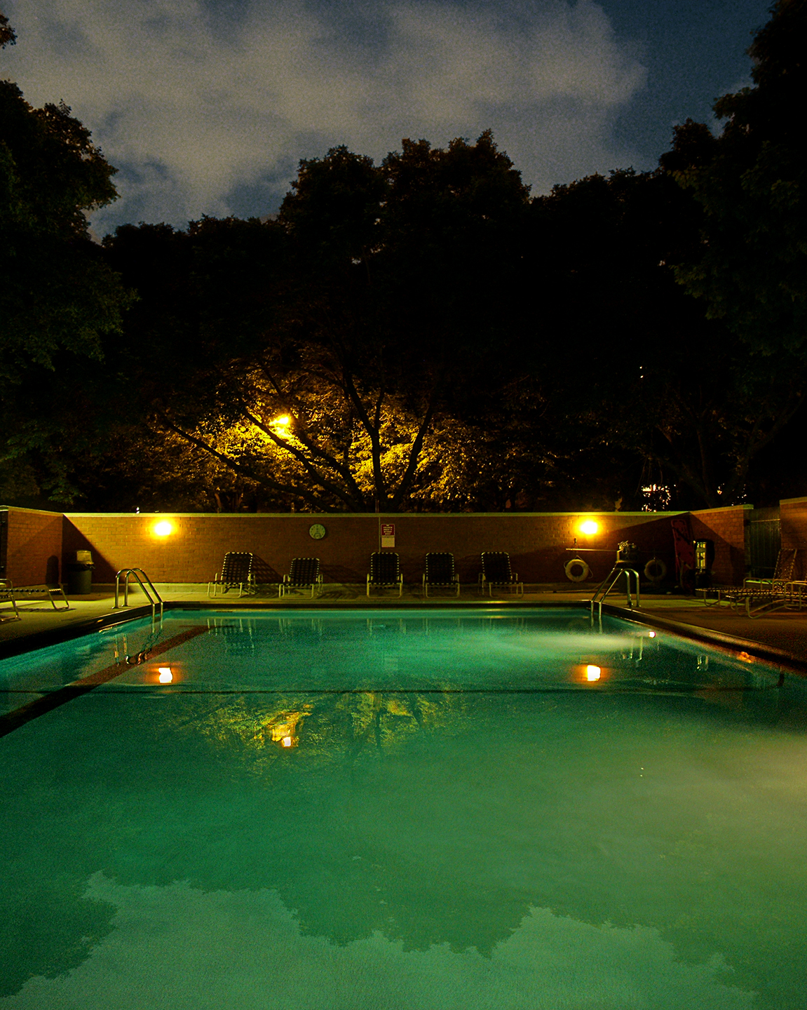 "Light Night Pool, 2009   34"" x 28"""""
