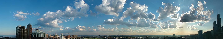 """Chicago Sky No. 4, 2007   16"""" x 72"""""""
