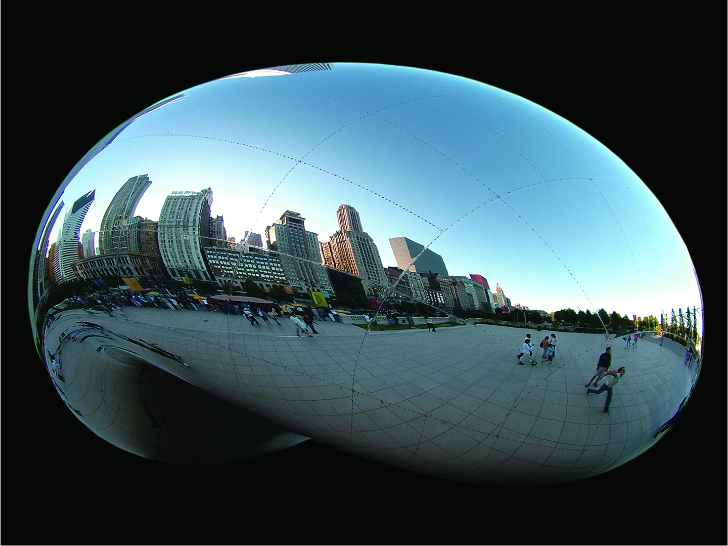 "Cloud Gate Seams No.2, 2006 22"" x 28"""