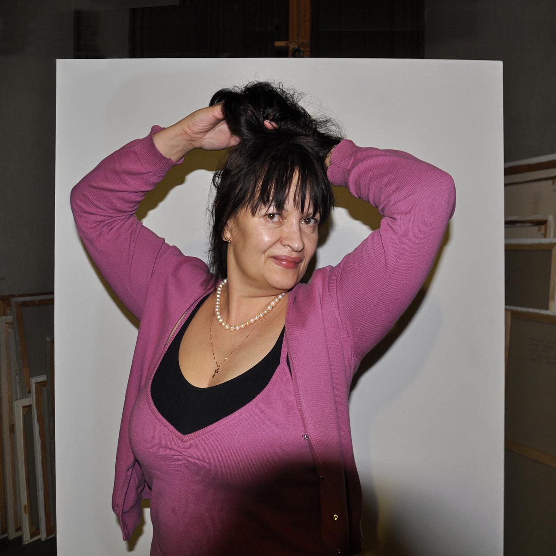 "Galina Troshkova on Canvas 2012  24"" X 24"""