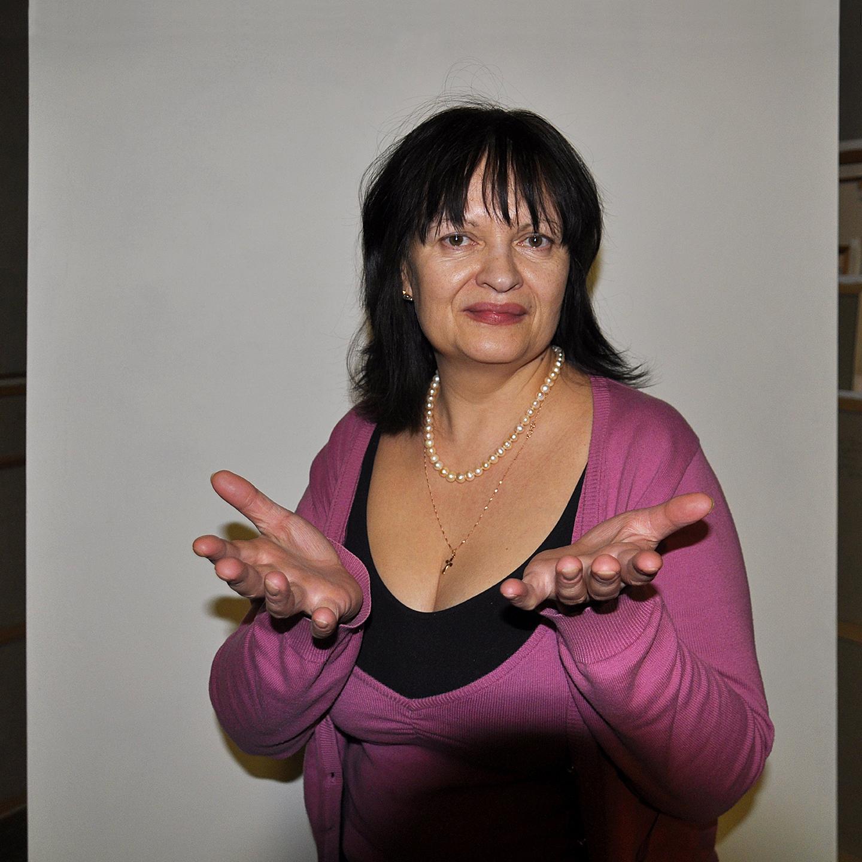 """Galina Troshkova's Greeting 2012  24"""" X 24"""""""