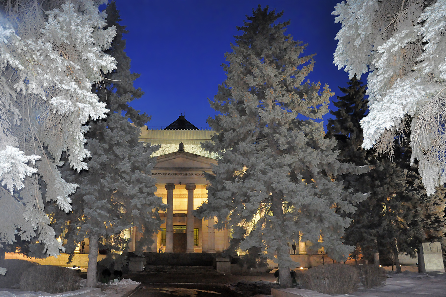 "Snow at Pushkin Museum, 2012  24"" x 36"""