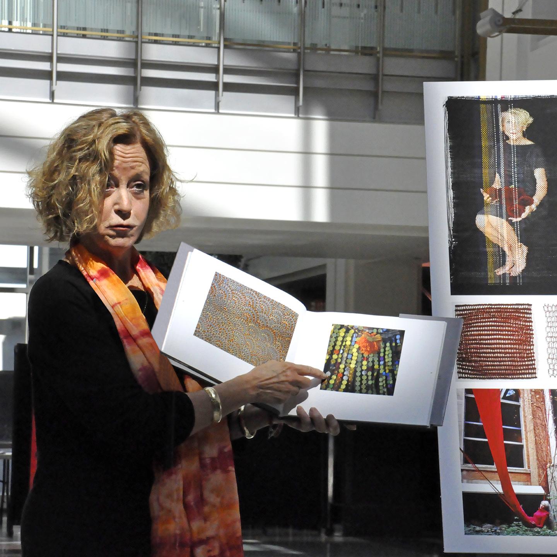 "Susan Sensemann on Surface Pleasures, 2013  24"" x 24"""