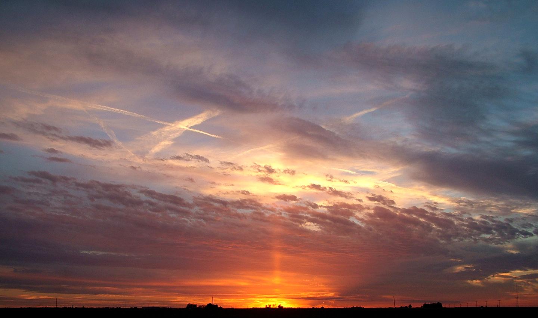"Winter Sky in McLean County, 2013  30"" x 48"""