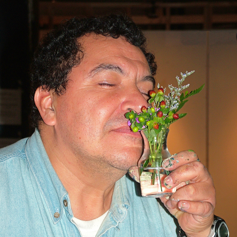 "Oscar Romero in Ecstasy, 2008  24"" x 24"""