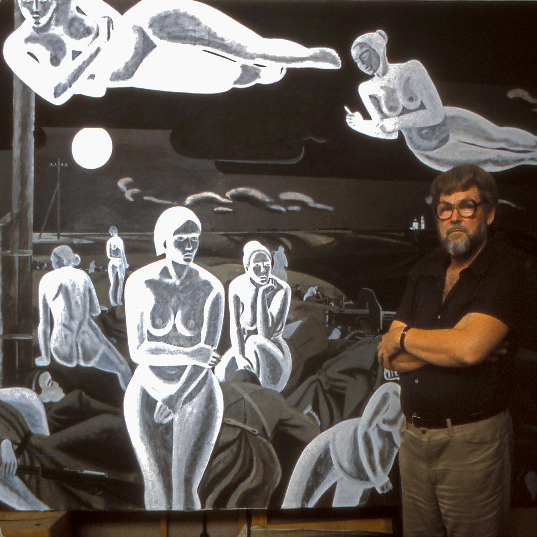"Igor Obrosov in Moscow Studio, 1992  24"" x 24"""