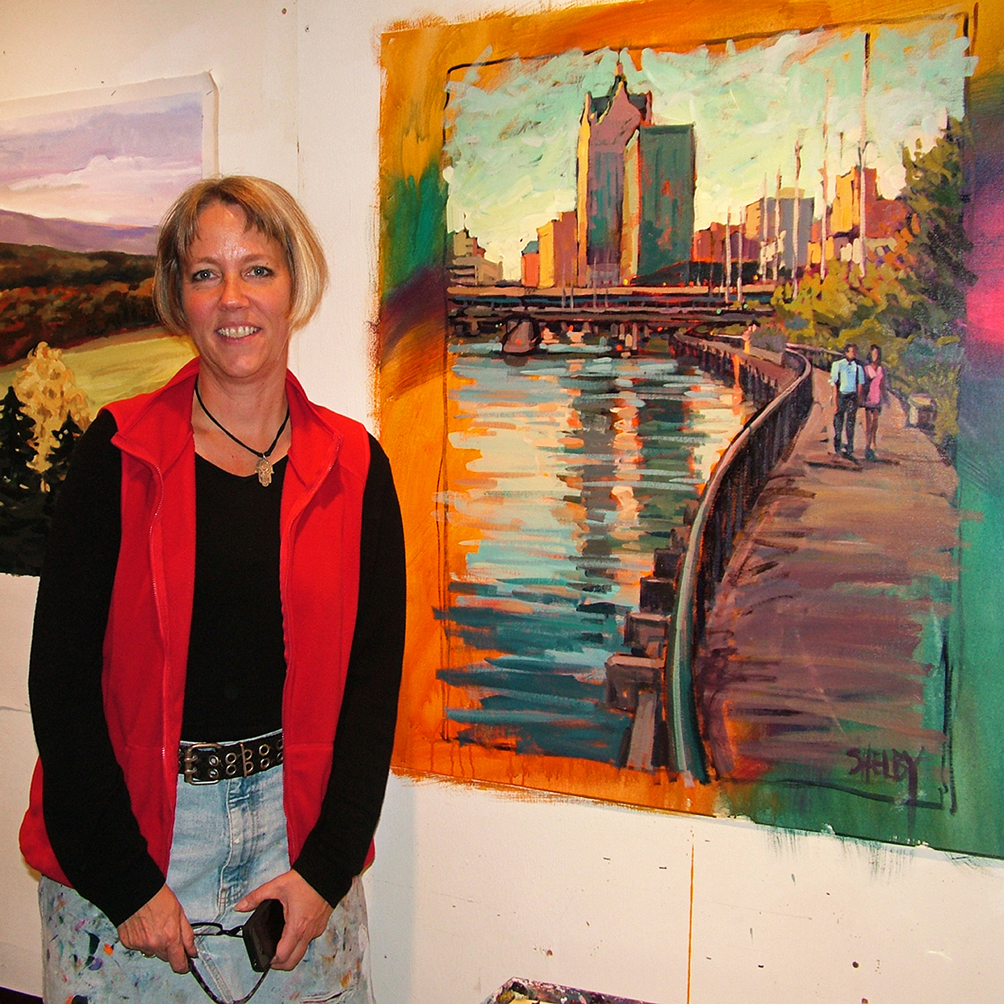 """Shelby Keefe at Open Canvas in Milwaukee, 2010  24"""" x 24"""""""