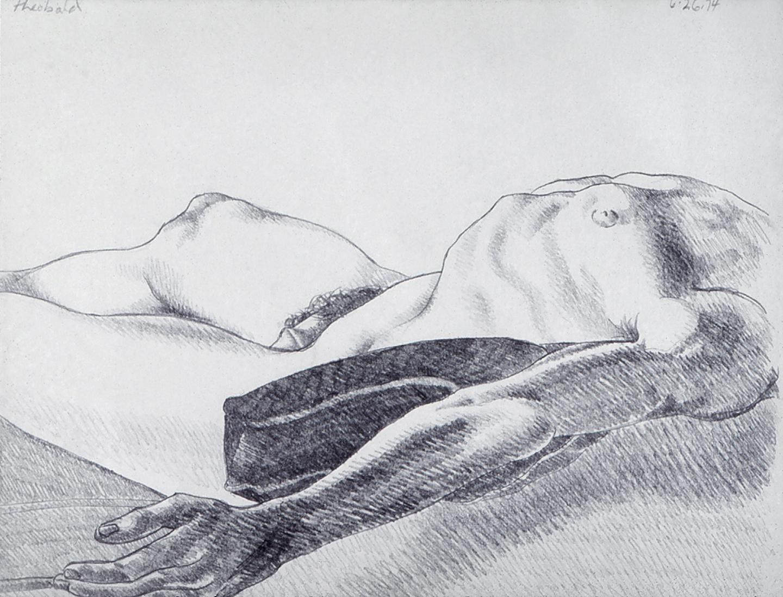6.26.74 II, 1974  Pencil