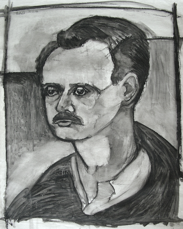 Philip Hanson, 1966  Oil crayon on vellum