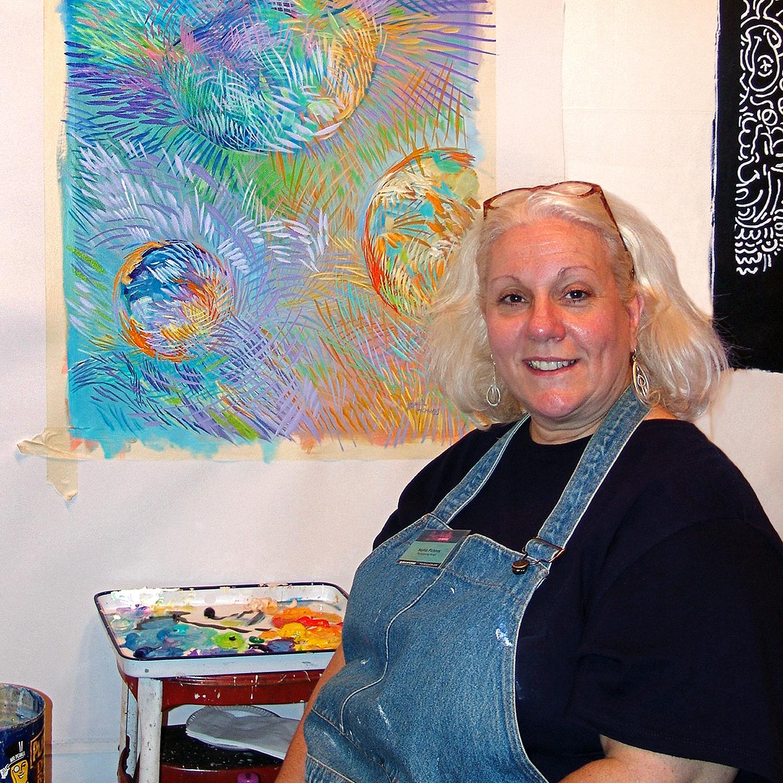 """Sophia Pichinos at BareWalls, 2004  24"""" x 24"""""""