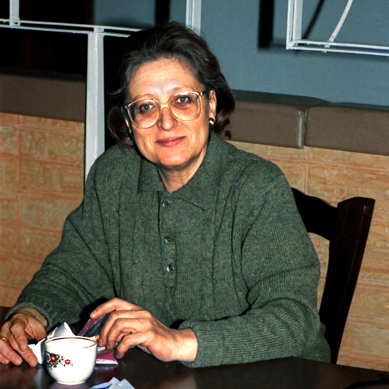 "Vera Lebedeva at Rosart Amorim, 1990  24"" x 24"""