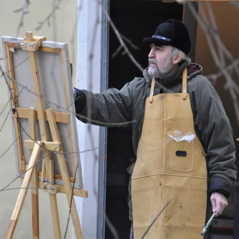 "Hadji Marad - Winter Painter, 2012  24"" x 24"""