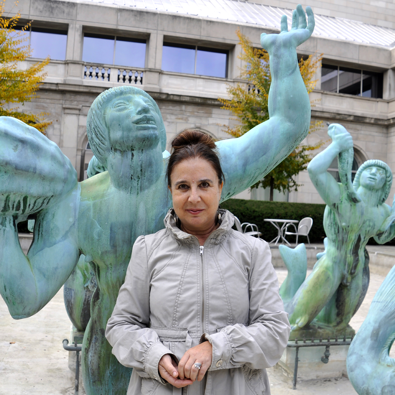 "Rosina Neginsky, Symbolist Author and Poet. 2016  24"" x 24"""
