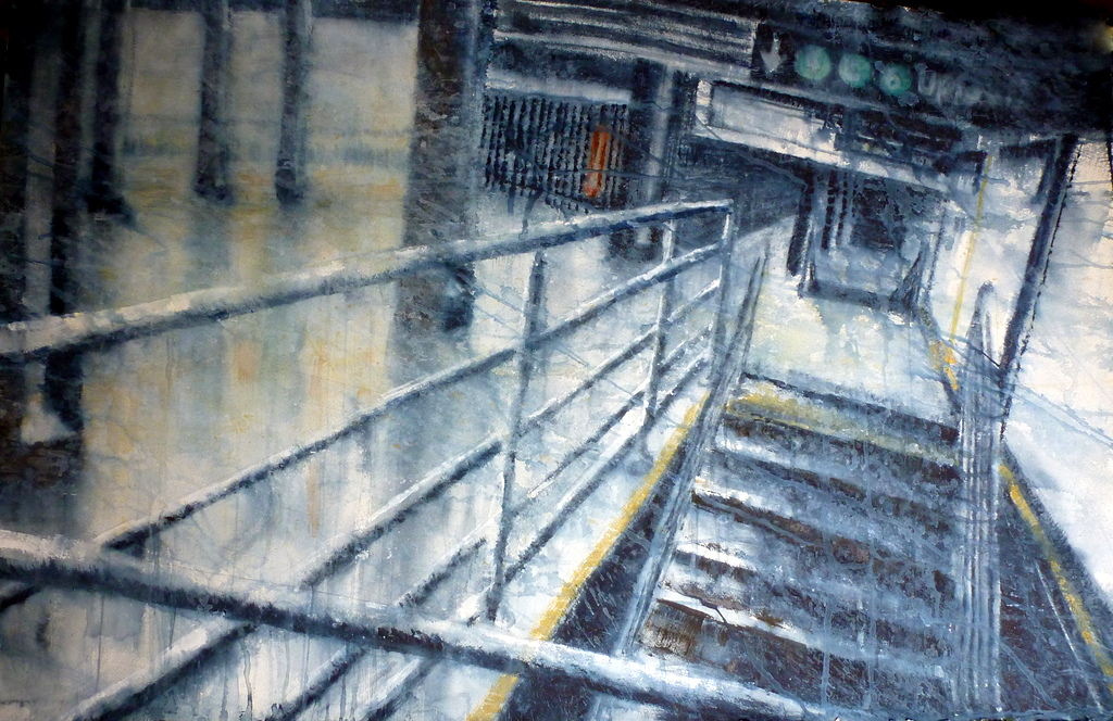 "WET FLOOR    26 x 40""    2014   Sold"