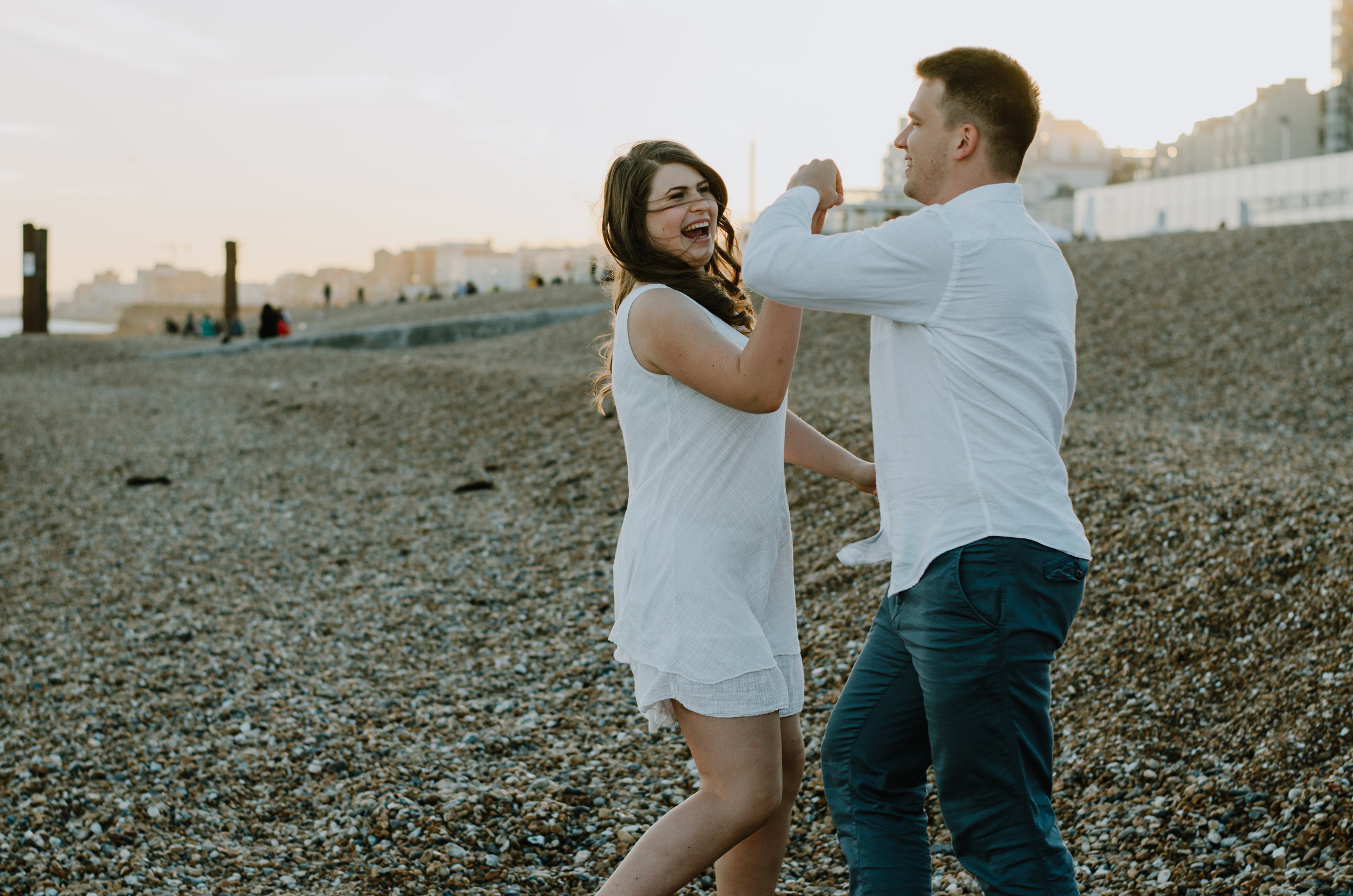 Ieva & Julius - Brighton Beach - Couple Session - Aiste Saulyte Photography-39.jpg