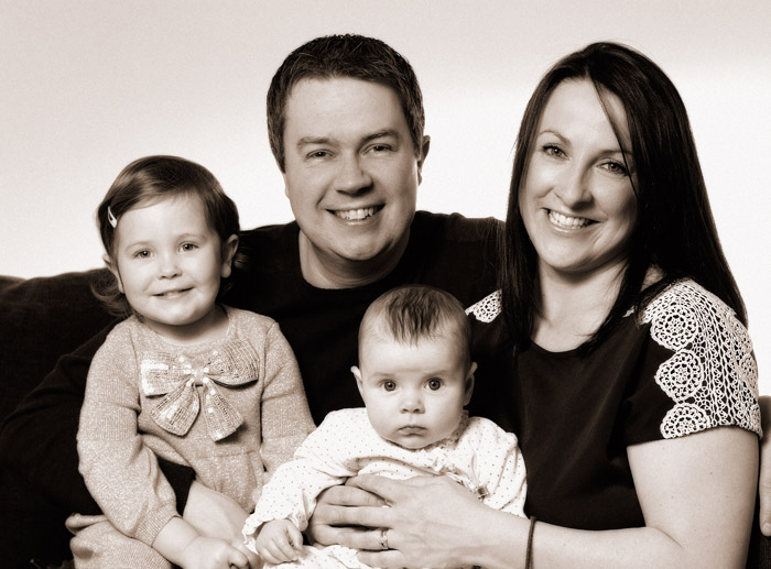 Families photographed in the comfort of your home.