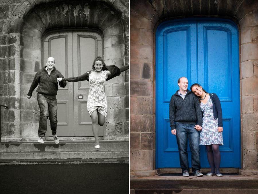 Couple outside Belhaven Parish Church