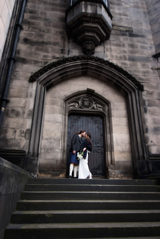 Bride and Groom at St Giles