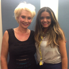 Beatty with host Sujeiry Gonzalez of   Love Sujeiry