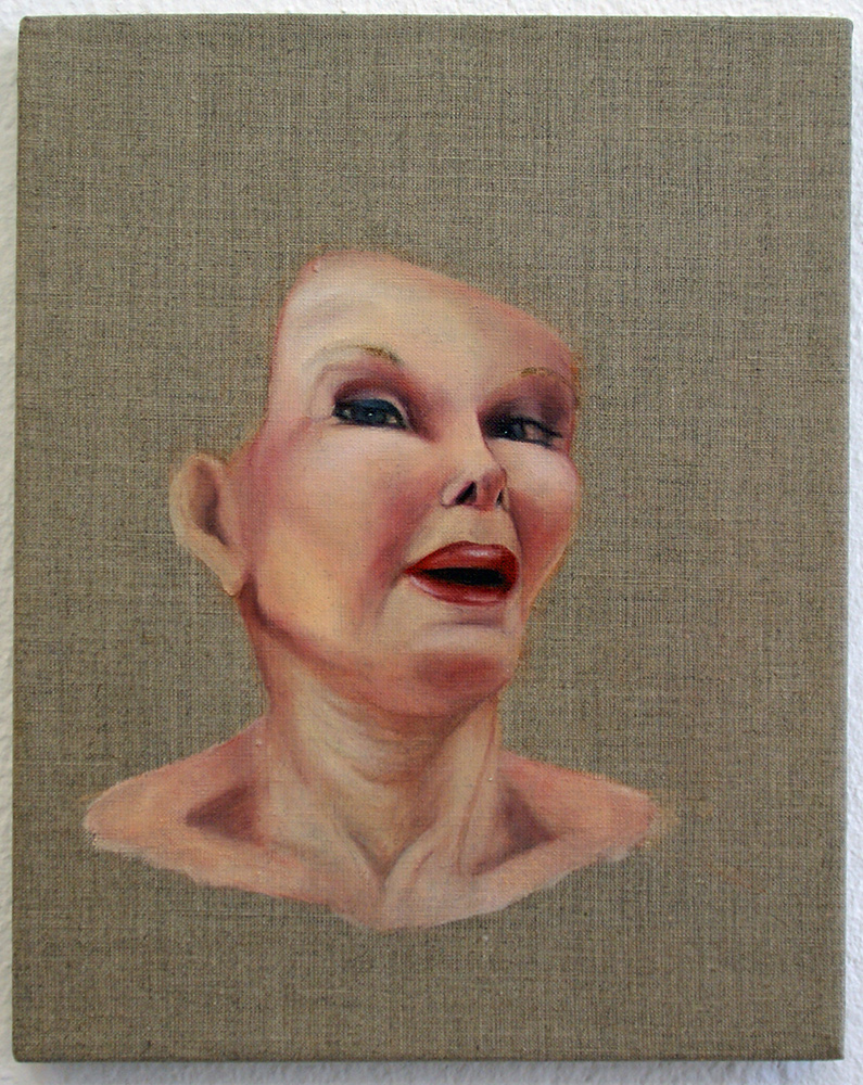 """series """"lioness"""", 2009, oil on canvas, 30x24 cm"""