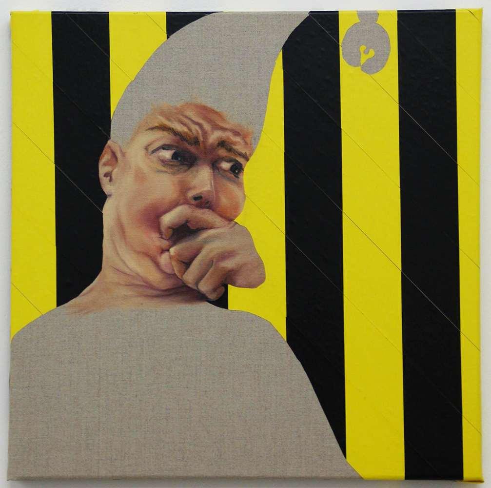 untitled, 2011, 40x40cm, oil and tape on canvas