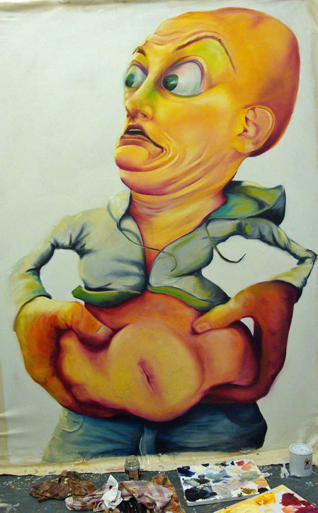 untitled, 2009, 270x160 cm, oil on canvas