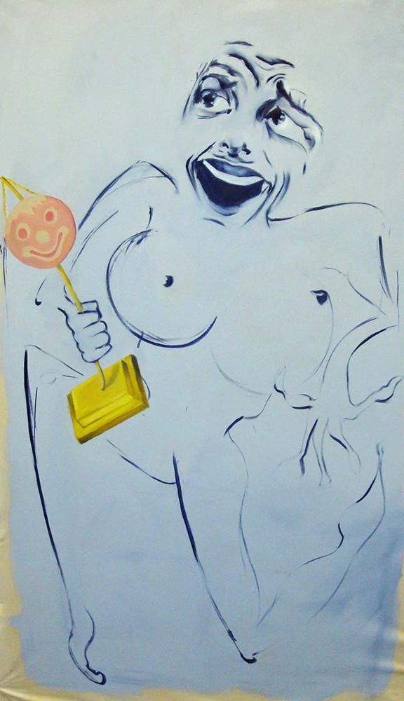 Wurstgesicht, 2009, 270x190 cm, oil on canvas