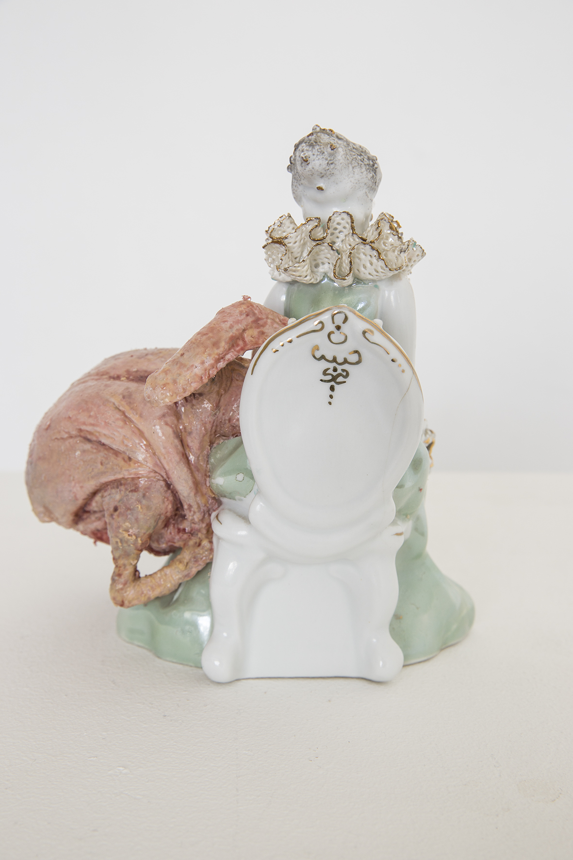 untitled . porcelain, silicone , paint,  20 cm, 2015