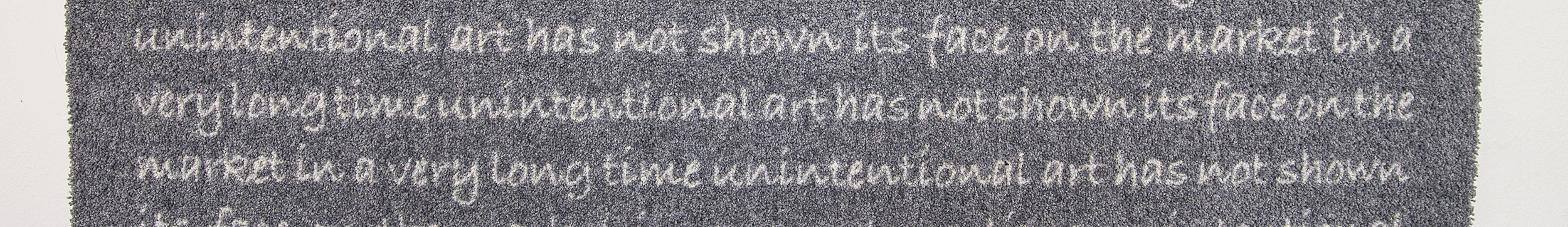 MIRRORED WRITING ON CARPET