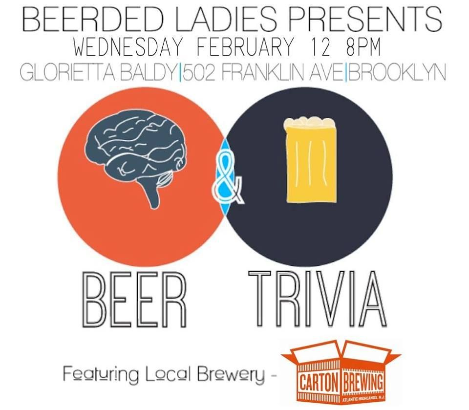 Monthly Beer-Themed Trivia Night |Beerded Ladies