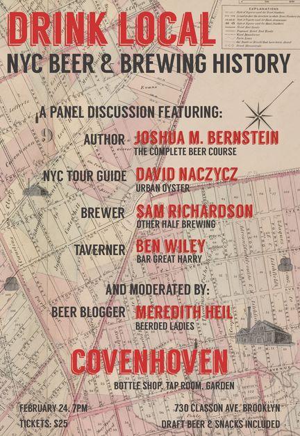 Drink Local: NYC Beer & Brewing History Taste & Talk | NYC Beer Week 2014