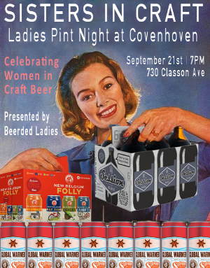 Sisters in Craft: Ladies Pint Night | Beerded Ladies for Covenhoven