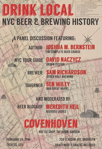 Drink Local: NYC Beer & Brewing History Taste & Talk   NYC Beer Week 2014