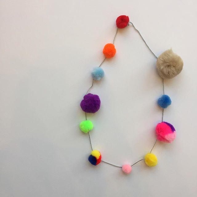 I'm a jewelry designer now 💁🏼 #pompom #fiberjewelry