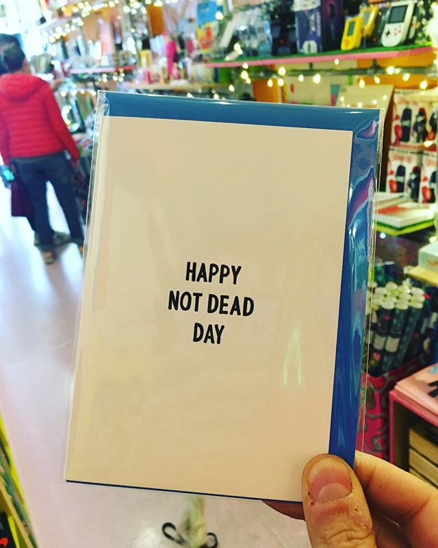 Happy not dead day to all of you ☺️☺️☺️. This is currently our fav card in the shop . Drop by our @boxpark #shoreditch store THE PLAY BOX for this and more awesome cards and merch 😎