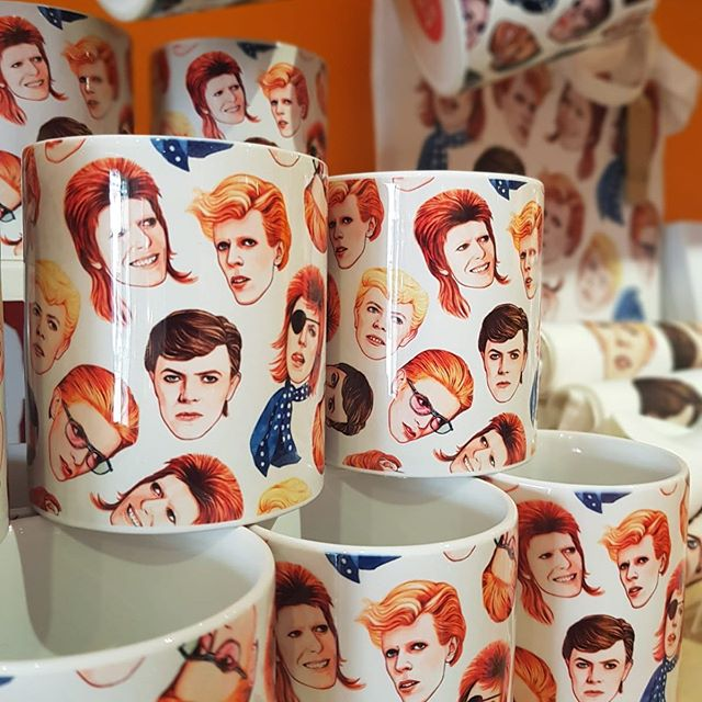 Our fav and best selling BOWIE mugs are back in stock at our @boxpark #shoreditch store THE PLAY BOX ! Drop by and buy ! Xxx