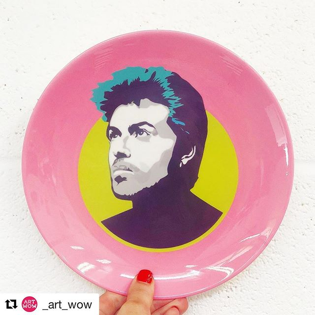 George Michael plate ! Coming soon! 💖💖💖