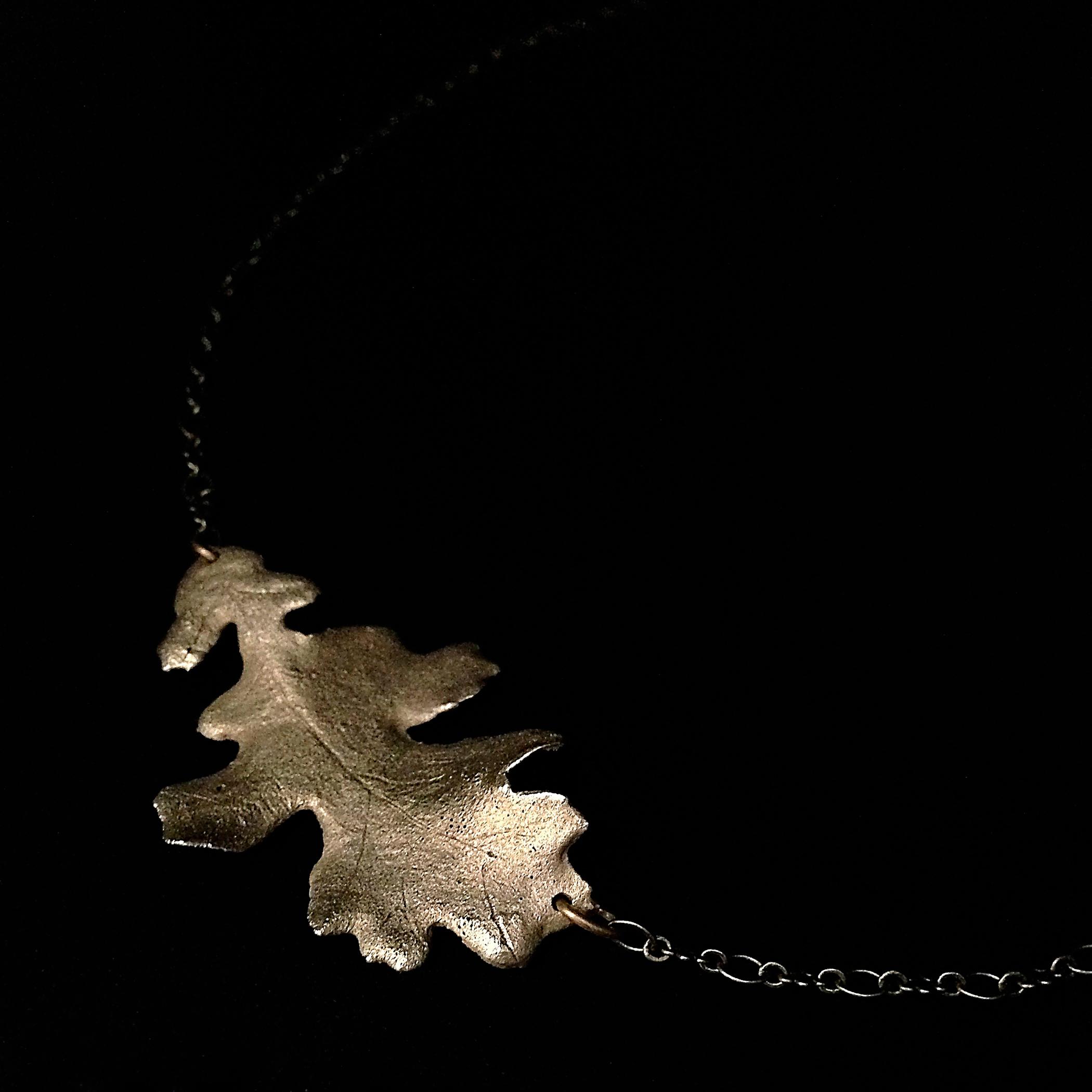 Oak Leaf Necklace  Bronze  Private Collection