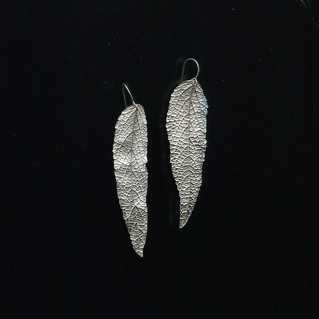 Sage Earrings  Recycled fine silver
