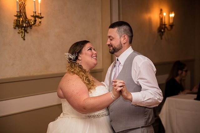 Their first dance... I love the look on their faces!  #canon #canonphotography #weddingphotography #njweddingphotographer #jerseyshore #centraljersey #love  #weddinginspiration #bridestyle