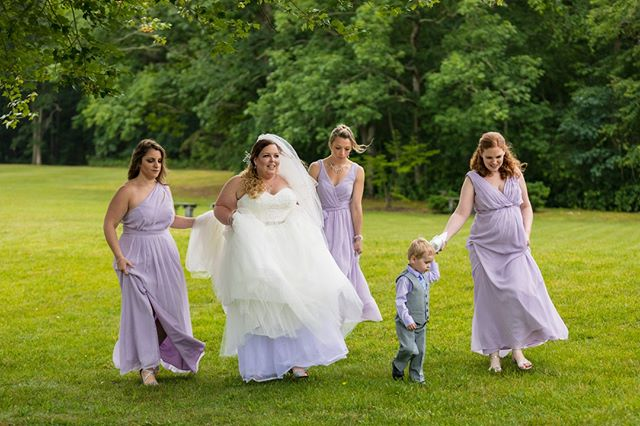 Here comes the bride (and her bridesmaids)! #Wallawallastudios #canon #canonphotography #weddingphotography #engagementphotography #familyphotography #maternityphotography #newbornphotography #portraitphotography #newjersey #nj #jerseyshore #centraljersey #love #art