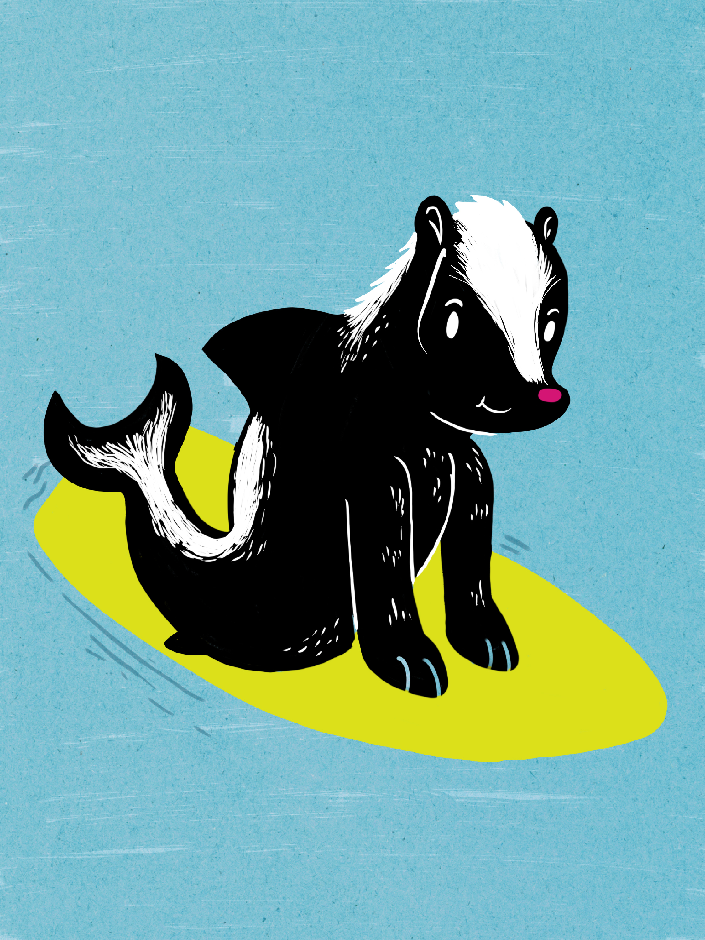 Meet the Awkward Skunkshark, who lives on both land and water! Learn more at the reception.