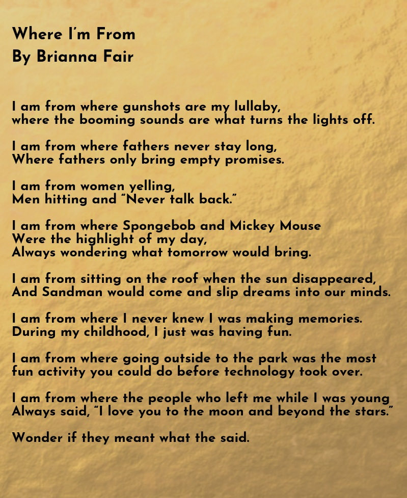 Poem and art excerpt by Brianna Fair, from  Indigenous Originated: Walking in Two Worlds