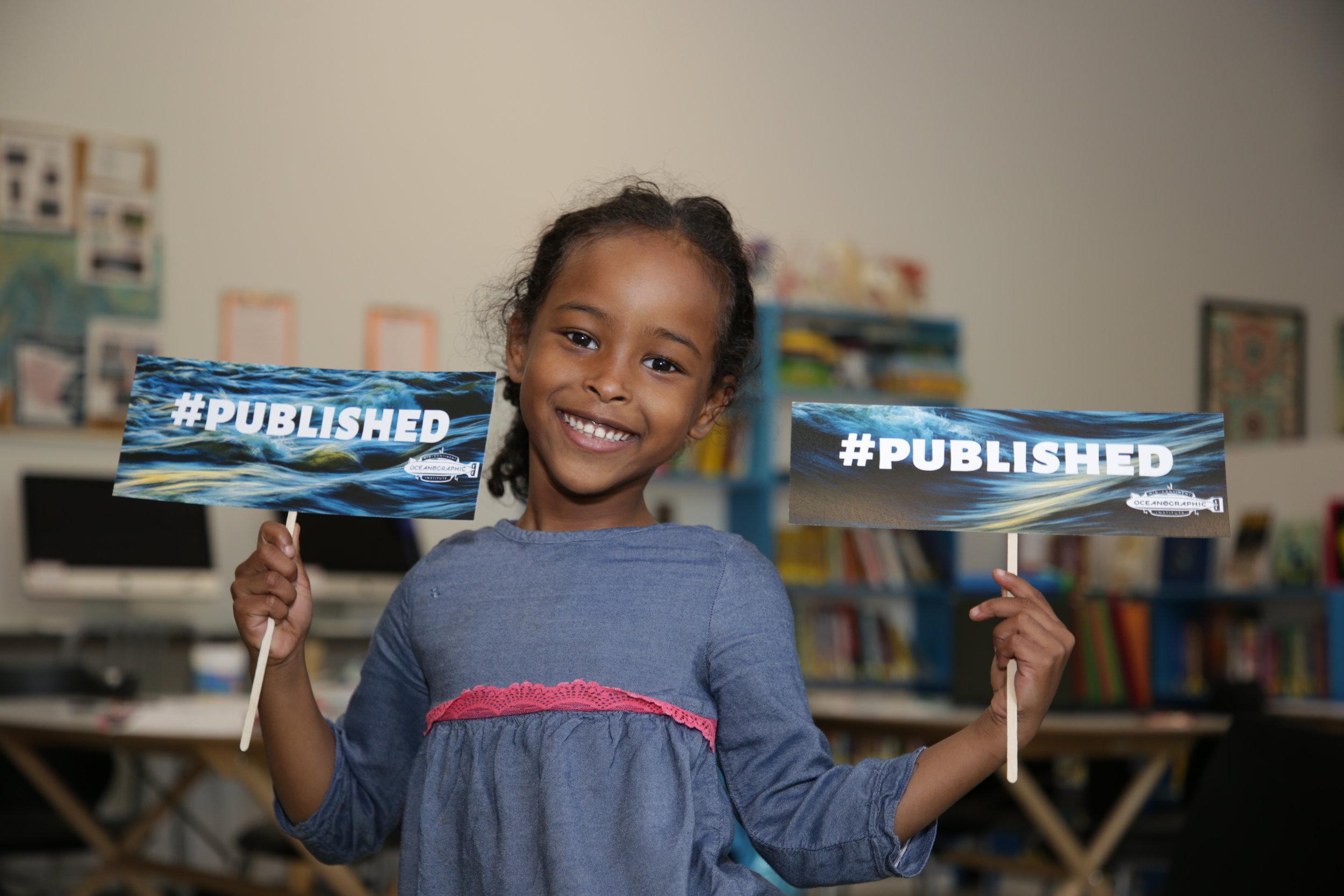 Ilwad celebrating being #published!