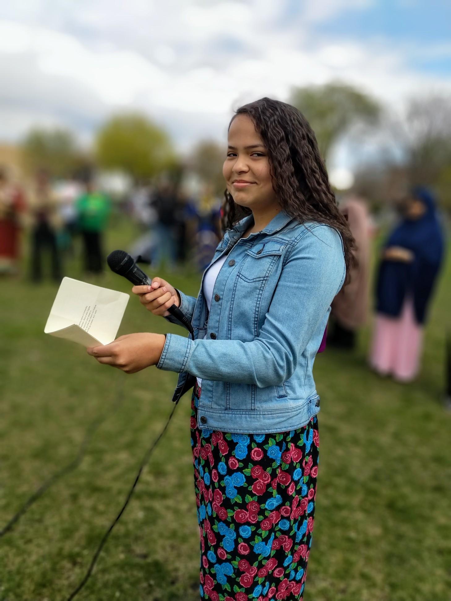Ambersky published as Amahpiya Wi reading from  Indigenous Originated.