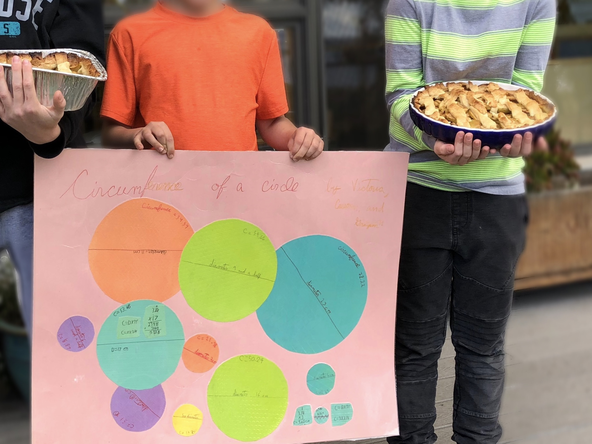 And these guys baked apple pies on Pi Day after learning how to calculate the circumference of a circle!