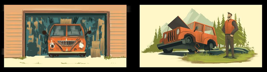 Auto Shots Concept Paintings